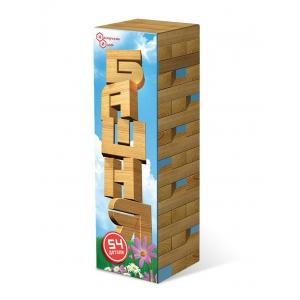 настольная игра башня 54 в картонной коробке (бук)