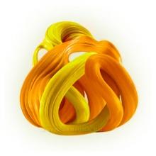 """Умный пластилин Play gum термо """"Оранжевый-желтый"""""""